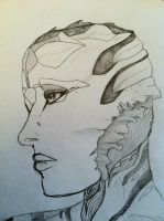 Female Drell- Averein by sharnuyt
