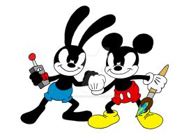 Mickey and Oswald by Peacekeeperj3low