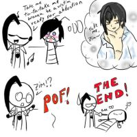 Misunderstanding- Chibi ZADR comic (continuation.) by Z-A-D-R