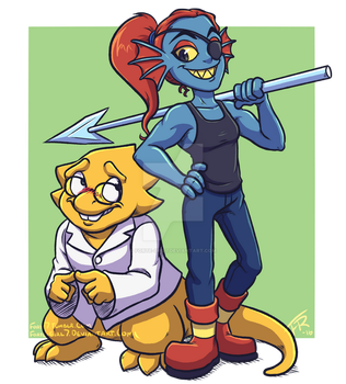 Undertale: Alphys and Undyne by forte-girl7