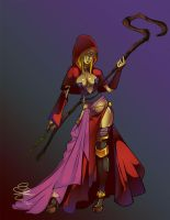 Theissian Sorceress by CrypticManifestation