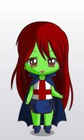 young justice miss martian chibi style by MAHGOL-DC-LOVER