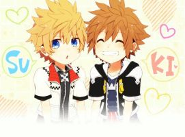 Roxas and Sora by Ouressi-Hime