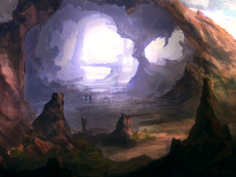 sunny cave by llRobinll