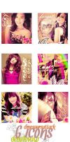 6 Icons Demi Lovato by Dinosaursattack