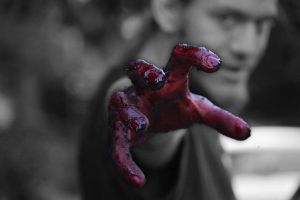 Bloody Hand by lyndsey1992