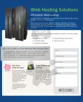 Hosting Company Landing Page Design by taki3