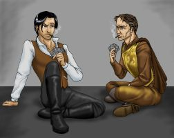 Cards and Cigars by JesIdres