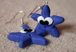 :: starfish earrings :: by Flowerinka