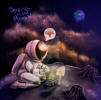 Planting apple trees on the moon-1 by Willborg