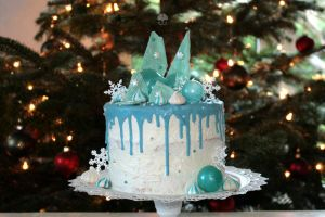 Winter Drip Cake by ginkgografix