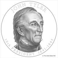 John Tyler coin by Reverie-drawingly