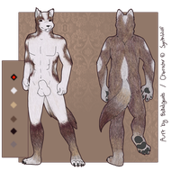 SynthWulf Reference Sheet by BakedGewds