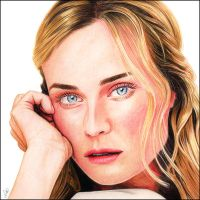Diane Kruger colour by NicksPencil