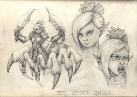 The Spider Queen by AdrianBorgnine