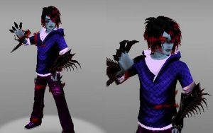 Creepypasta OC: Dark Travis (Shadelock) by Stormtali