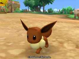 Close up pic of Eevee by SuperSmashCynderLum
