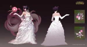 Wedding Gown Ahri by LengYou