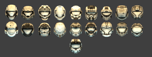 Halo Reach Helmets by Mattpc