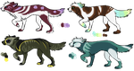 Wolf Adopts! -closed- by SummerAdopts