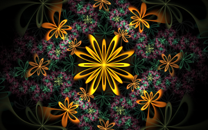 dark pattern with golden flowers by Andrea1981G