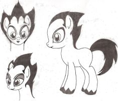 Nomi Pony 3 (Omni Starburst Black and White) by DreamRevolution