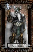Mythology Tarot Odin by TheBlindProphetess