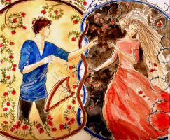 Orpheus and Euridice by LittleSeaSparrow