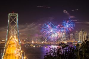 San Francisco fireworks by alierturk