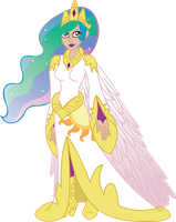 Humanized Princess Celestia by InkRose98