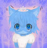 Darwin vision of Gumball in a dress by SuperRobotRainbowPig