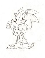Sonic pencil sketch by Malici0us