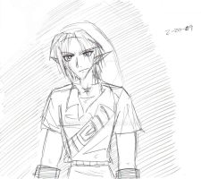 Link looks angry O_O by Linkfan007