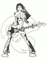 Rock Star Wonder Woman by KidNotorious