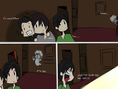 What did he say?? Ghost Investigation Mini Comic by AlbertRemong