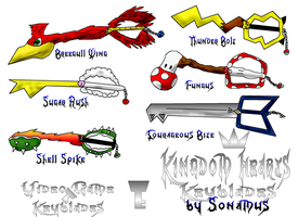 Custom Keyblades- sheet 1 by Sonamus