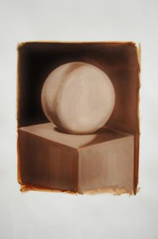 Quick study in oil (round II) by blackdahliah