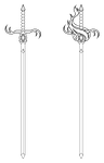 Lineart: Updated Fire and Ice Rapier by SaturnGrl