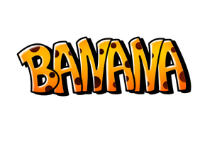 Banana - Digital Graffiti by Auster-ity