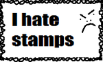 I hate stamps stamp by Avgardiste