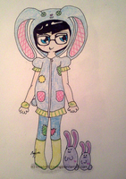 Homestuck - John - Patchwork Bunny by InvaderBlitzwing
