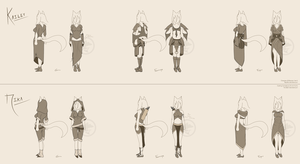 Kailey and Nika Clothing Design [C Rapidfox] by MamaELM