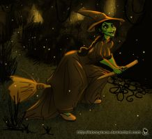 Elphaba, Taking Off by EbonyLace