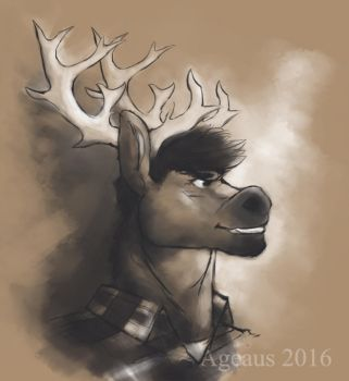 Brother Reindeer by Ageaus