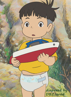 Sosuke from Ponyo in diapers by bigddan11