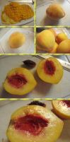 Gluten/Dairy-Free Peach-Mango Tarts by Windthin