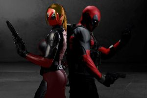 DEADPOOL AND LADY DEADPOOL (FAN MADE LIVE ACTION) by Darth-Slayer