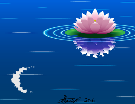 Moonlight Lily by DrawDesign