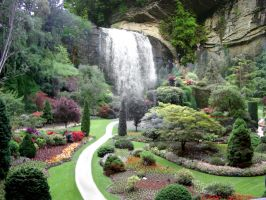 Gardens and Falls by patrx