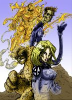 Fantastic Four by Hesstoons